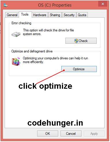 optimize-hard disk