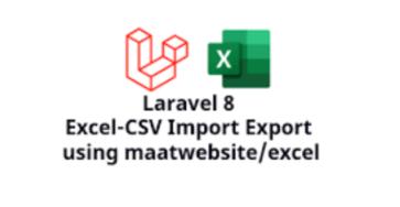 laravel 8 import/export