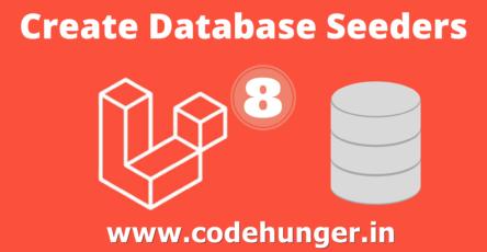 create database seeder in laravel 8