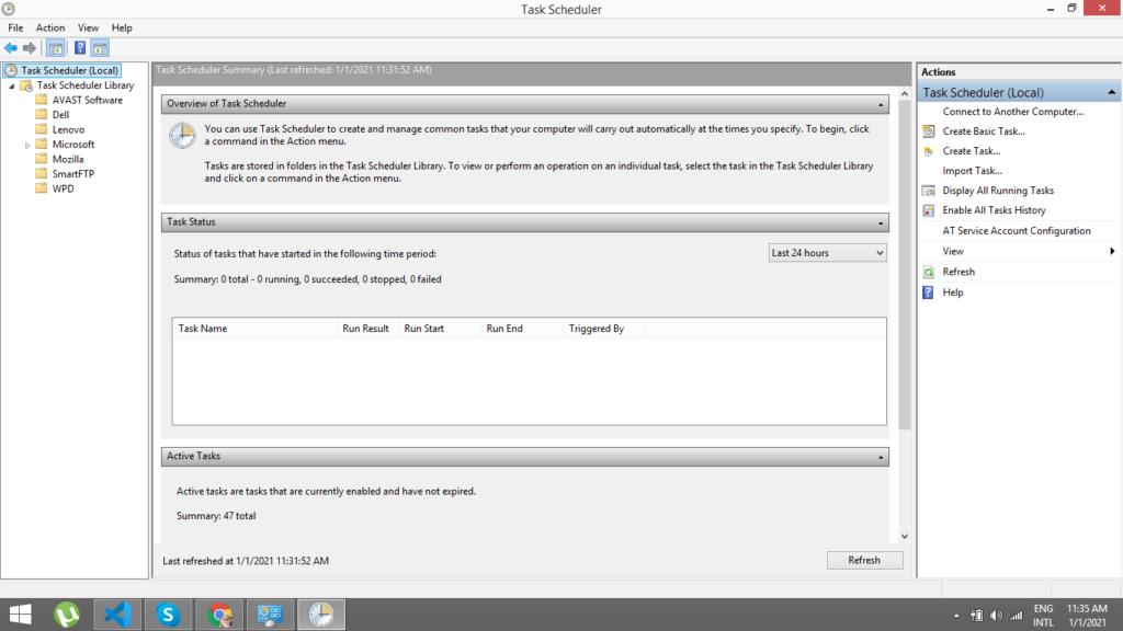 task-scheduler-windows-cron-job-in-laravel-8